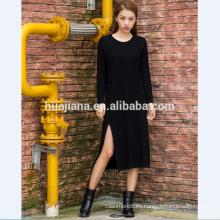 vestido de cheongsam de punto de cachemira de mujer