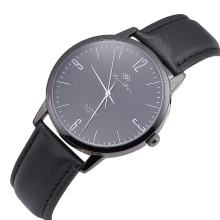 Best Quartz Brand Custom Logo Man Genuine Leather Watches