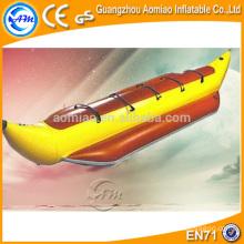 Asientos inflables del barco de 5 personas, barco de plátano del vuelo del PVC de 0.9mm