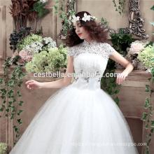 Alta calidad blanco vestidos de novia piso longitud personalizado hacer largo formal nupcial vestidos de novia