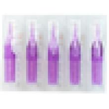 50pcs Transparente Tatuaje Consejos Flat Redonda Diamond Desechables Boquillas Corto Púrpura
