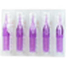 50pcs Transparent Tattoo Tips Flat Round Diamond Disposable Short Nozzles Purple