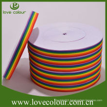 Factory Wholesale Cheap Custom Polyester Multi-color Rainbow ribbon