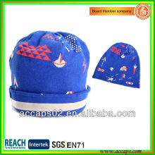 Custom quality blue fold up beanie hats wholesale BN-2010