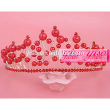 beaded colored pearl christmas pageant crowns