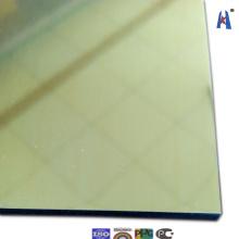 Декоративная алюминиевая пластина из золотого зеркала