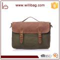 High Grade Crazy Horse Leather Canvas Bags For Men Messenger Bag