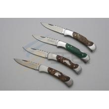 Couteau de poche en bois de 6.5 pouces avec figure animale (SE-471)