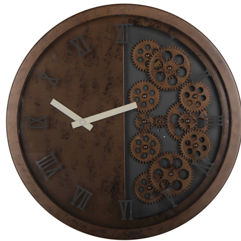 Wall Clock With Gears