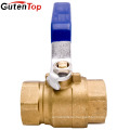 Gutentop Blue Handle 600 PSI (WOG) NPT Oil Water And Gas Full Port Brass Ball Valve With Chrome-Plated Brass Ball