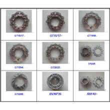 Placa de bico de anéis de bico variável para turbocompressor