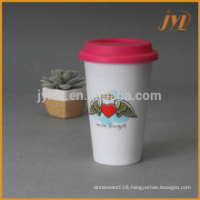 280cc ceramic promotional products with silicone lid