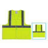 high visibility reflective vest with 3m tape