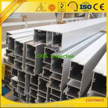 Profilé de mur de rideau en aluminium enduit par poudre