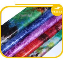 Moda de fábrica de la ropa de la boda Tela de material de tela de Bazin de Bazin Telas estupendas de la impresión para las camisas y las blusas