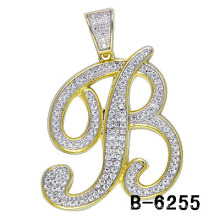 New Arrival 925 Sterling Silver Micro Setting Letter Men′s Charm.