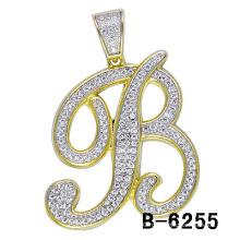 Новое Прибытие 925 стерлингового серебра микро-устанавливая письмо Мужской Шарм.