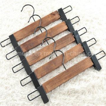 Vente en gros Rétro style en bois Pantalons Pantalons Jupe Hanger