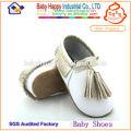 MOQ 60 Baby schuhe Leder Baby Mokassins