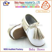 MOQ 60 zapatos de bebé zapatos de cuero mocasines