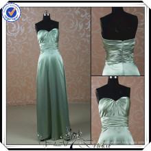 PP0113 Amostra Real Longo vestido de daminhas de oliveira verde