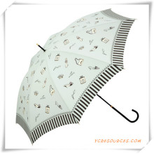 Automatischer preiswerter Druckpongee-fördernder gerader Regenschirm für Förderung
