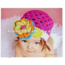 Sombrero suave del ganchillo del bebé Sombreros suaves del ganchillo del bebé de la gorrita tejida de la gorrita tejida del bebé del ganchillo Casquillos del ganchillo de los cabritos