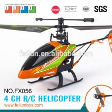 22cm pequena escala 2.4G 4CH usb cabo do carregador para o helicóptero do rc de hélice única com certificado de CE/FCC/ASTM giroscópio