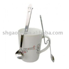 stainless steel coffee spoon in twist handle
