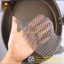 Chain Mail Pot Scrubber Limpiador de cadena de hierro fundido