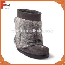 Top quality real rabbit fur boot fur cuff
