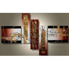 Pintura moderna abstracta pintada a mano grande del grupo (XD5-074)
