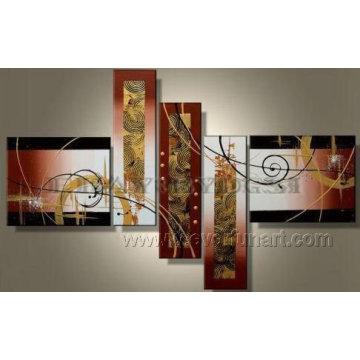 Handpainted большая абстрактная самомоднейшая картина группы (XD5-074)