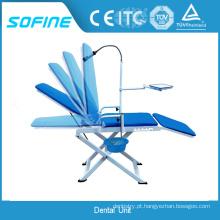 Fabricação de cadeira dental portátil com venda quente