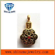 Imitation Jewelry Fashion Gold Perfume Necklace Pendant