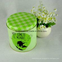 Custom Made Small Gift Tea Tin Box com Cmyk Printing