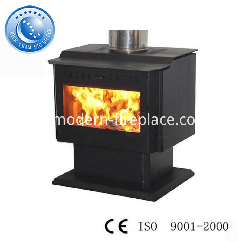 China Popular Steel Plate Wood Burning Fireplace