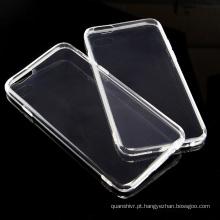 Icheckey alta qualidade caso de TPU móvel transparente completo para o iphone 6