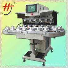 Venda quente 6 cores automáticas pad máquina de impressão, máquinas de impressão almofada para venda, máquina de impressão bola pad