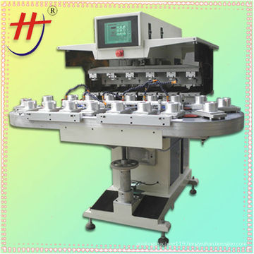 T pneumatic precision 6 color conveyor open ink pad printer HJ-300FZ