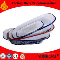 Sunboat Enamel Ceramic Dinnerware Plate/ Food Tray Plate
