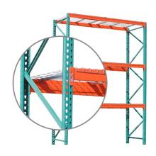 Ebiltech Q235B Warehouse Storage Beam Heavy Duty Teardrop Pallet Racking