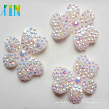 hot selling flat back butterfly shape resin rhinestone beads