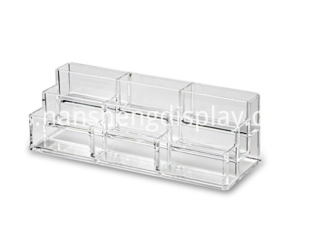 Clear Tiered Compact Makeup Organizer