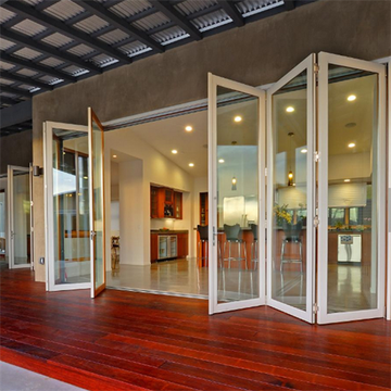 Aluminum Folding Doors with Built-in Shutters
