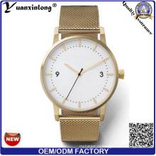 Yxl-483 горячие продажи новый дизайн часы мужчины женщины Повседневная сетки стали ремешок продвижение наручные часы мужчины бизнес роскошные часы Леди