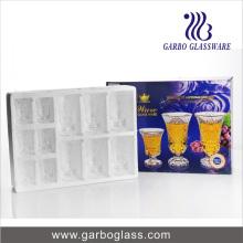 12PCS haute qualité en verre de verre gravé, verre à vin GB28002ty