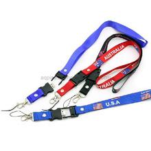 Polyester Printed Lanyards with USB