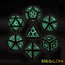 Luminous 7pcs RPG Polyhedral Game Dice Set