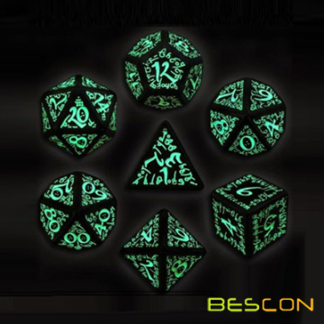 Luminous 7pcs RPG Polyhedral Game Dice Set